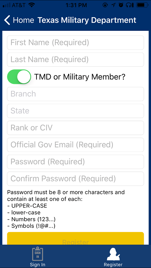 TMD or Military