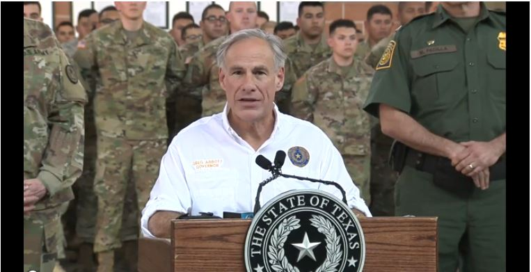 Gov. Abbott visits Texas National Guard troops -