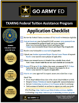 Texas Army National Guard Federal Tuition Assistance GoArmyEd Reference Guide PDF Link