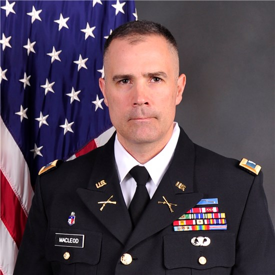 Col. Scott Mac Leod will assume command of the Texas National Guard's Joint Task Force 136 (Maneuver Enhancement Brigade)