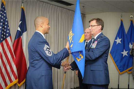 Chief Master Sgt. Marlon K Nation, assumed responsibility as the Senior Enlisted Advisor to the Texas Air National Guard from Chief Master Sgt. Kevin J. O'Gorman