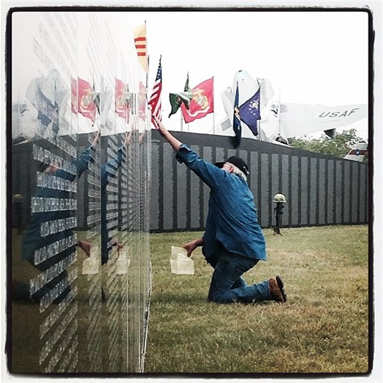 Vietnam Traveling Memorial Wall visits Camp Mabry in Austin
