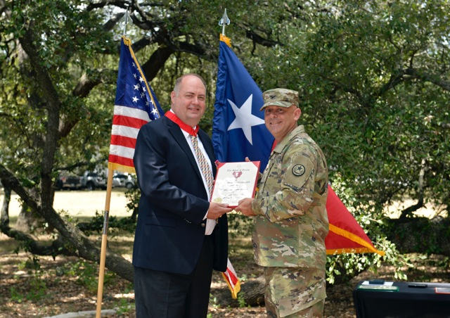 retirement ceremony honoring Col. Brian Hammerness