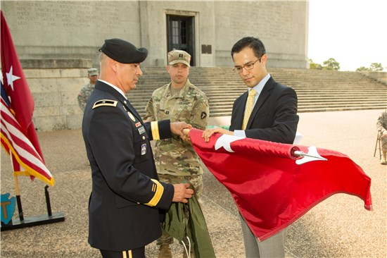 Col. Richard Noriega, Assistant Division Commander for Support of the 36th Infantry Division, Texas Army National Guard, was promoted to the rank of brigadier general during a ceremony