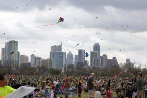 Thousands gathered in Austin's Zilker Park, March 6, 2016, for the 88th Zilker Kite Festival. The Texas State Guard supported festival organizers and local park rangers with search and rescue teams and logistics.
