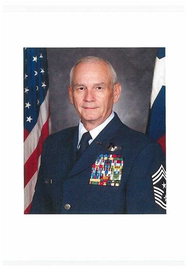 Texas Air National Guard retired Chief Master Sgt. Johnny D. Jones