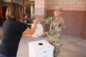 Members of the Texas National Guard Joint Counterdrug Task Force support El Paso Drug Enforcement Administration during Take Back Day to receive unused prescriptions. (Courtesy Photo, Texas Joint Counterdrug Taskforce)