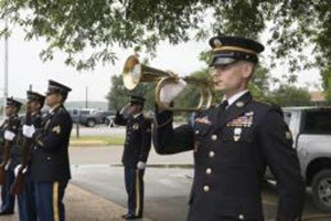 Capt. Martha Nigrelle Soldiers from the Texas National Guard's Honor Guard recognize the service of Airman 1st Class James Beatty with full military honors, during a Missing in American Project ceremony held at Camp Mabry in Austin, Texas, April 17, 2016. The ceremony was a part of the Texas Military Department's annual Open House, an event that serves to honor veterans, service members and partner first responders. The Missing in American Project locates, identifies and inters the unclaimed cremated remains of American veterans through the joint efforts of private, state and federal organizations. (U.S. Army National Guard photo by Capt. Martha Nigrelle/ Released)
