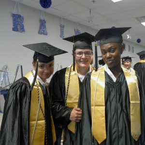 Photo By 1st Lt. Alicia Lacy | Cadets pose for a picture before graduating from the Texas ChalleNGe Academy-East June 18, 2016, in Altair, Texas. The graduates finished the 22-week residential phase of the alternative education program with some recovering high school credits, earning their high school diploma or GED or both. The ChalleNGe Academy is a Department of Defense-funded program through the National Guard and the Texas Joint Counterdrug Taskforce.