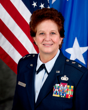 Maj. Gen. Dawn M. Ferrell is the Deputy Adjutant General-Air for the Texas Military Department and also serves as Commander for the Texas Air National Guard. She is the principle advisor to the Adjutant General for all Texas Air National Guard issues. She is responsible for formulating, developing, and coordinating all programs, policies, and plans for three Wings and more than 3,200 Air National Guard personnel throughout the state of Texas.