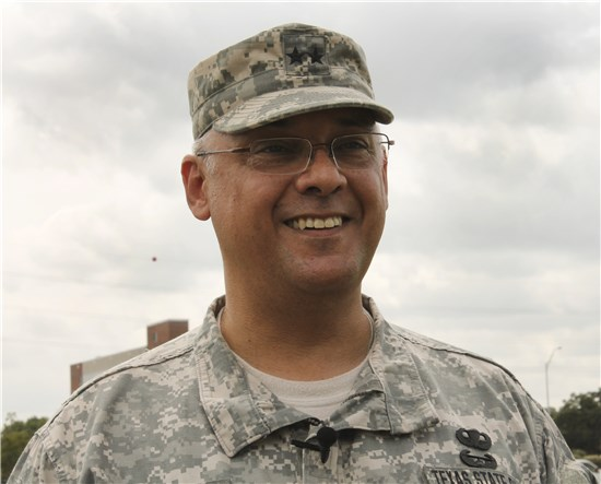 "On Saturday, Aug. 18, 2012, Maj. Gen. Manuel ""Tony"" Rodriguez assumes command of the Texas State Guard from Maj. Gen. Raymond Peters at Camp Mabry in Austin, Texas."