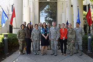 Key leaders from the Texas Army National Guard, Air National Guard, and State Guard met with members of the Chilean Undersecretary at Camp Mabry in Austin, Texas, August 8, 2016. Through the States Partnership Program, Texas has been partnered with Chile since 2009. The program is designed to link a State's National Guard with a partner nation's military forces government agencies in a cooperative, mutually beneficial relationship. (U.S. Army National Guard photo by: Sgt. Elizabeth Pena/Released)