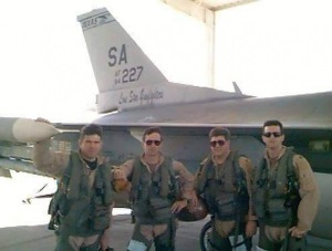 Photo By 94th Airlift Wing | Air Force Gen. (then Maj.) Joseph L. Lengyel (second from left), the 28th Chief of the National Guard Bureau, stands alongside fellow F-16 Fighting Falcon pilots assigned to the 149th Fighter Wing, Texas Air National Guard, during an overseas deployment, circa 1996. Lengyel was a member of the wing from 1991-2004. Pictured left to right: Bryan Bailey (unknown rank), Lengyel, Mike Littrell (unknown rank), and Ray Segui (unknown rank). (Photo courtesy of Gen. Joseph L. Lengyel via www.Facebook.com/GeneralLengyel)