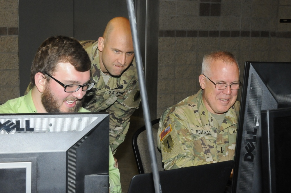 Army National Guard Staff Sgt. Sean Cochran with the Missouri Cyber Team, Army National Guard Chief Warrant