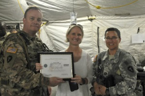 Employer receives award for their support to National Guard employees.