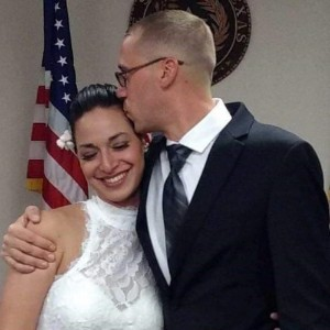 Sgt. James Green, native of El Paso, Texas, assigned to the 1st Armored Division Mobile Command Post Operational Detachment (1AD MCP-OD), Texas Army National Guard, kisses his wife Hannah on their wedding day, May 12, 2017. Green's journey into the U.S. Army has been filled with challenges, but he values the lessons the Army has given him. Green is currently deployed to Afghanistan with the 1st Armored Division Headquarters and Headquarters Battalion in support of Operation Freedom's Sentinel and Resolute Support. (Photo Courtesy of Sgt. James Green)