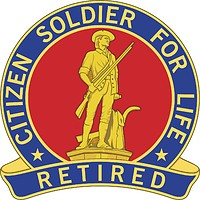 Citizen soldier for life logo.