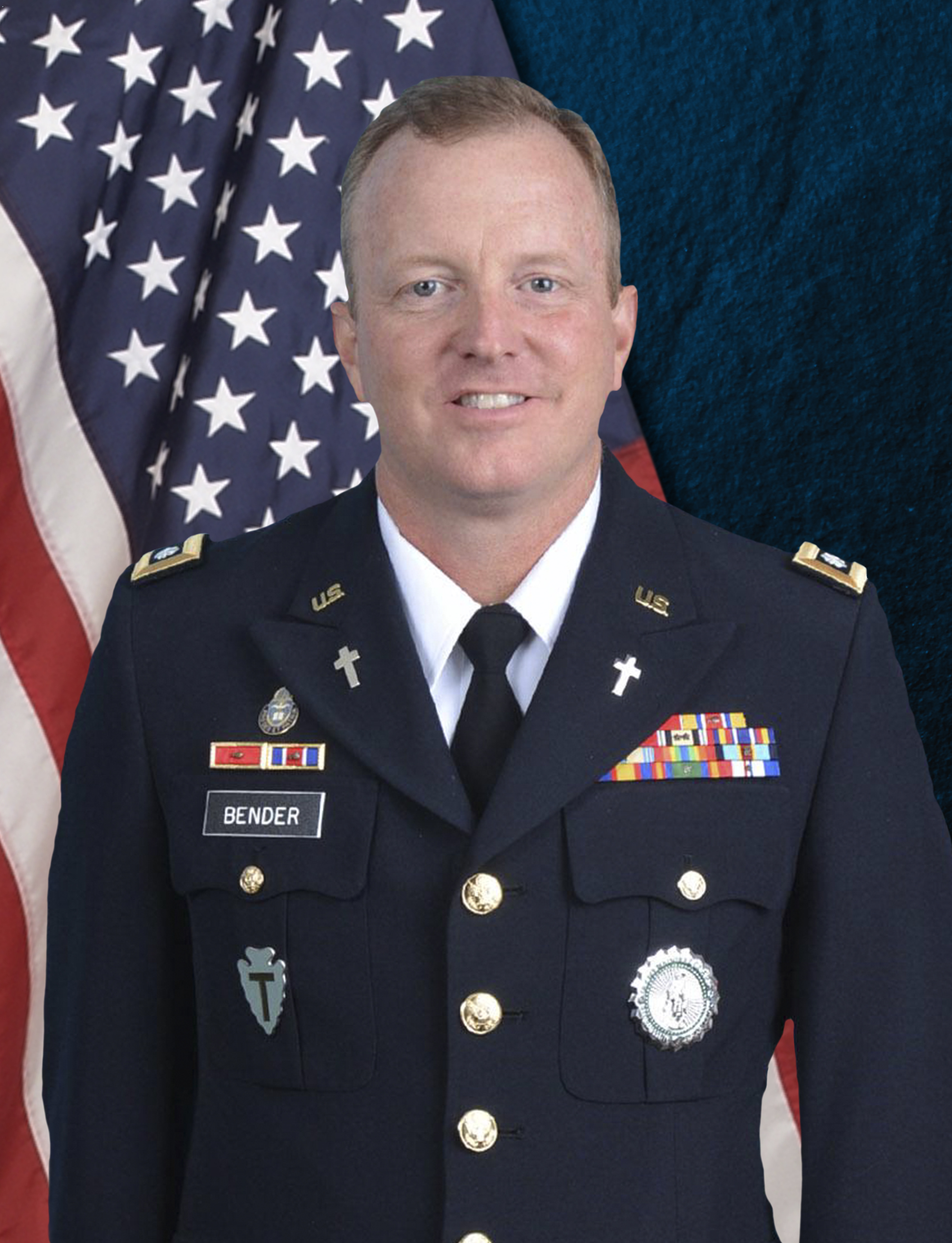 LTC Benjie Bender serves as the Chaplain for the Texas Military Department