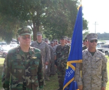 Photo of Guard members in Camp Swift