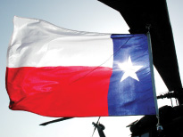 Photo of Texas Flag waving