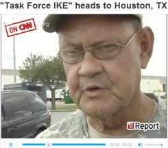 "MAJOR J. Michael Spraggins, with the Texas State Guard explains as ""Task Force IKE"" heads to Houston."