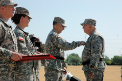 The Texas Adjutant General MG Jose Mayorga promotes BG Raymond Peters to Major General