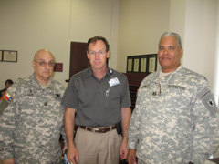 Chaplin Fair, Brownwood City Councileman Steven Ray Brownwood Regional Medical Center and CPT Spratt Assistant Exercise Director.Photo by MAJ J. Michael Spraggins, TXSG Public Affairs