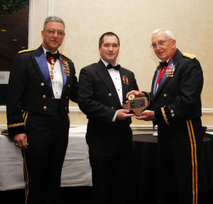 Photo of NCO of the Year Award being presented