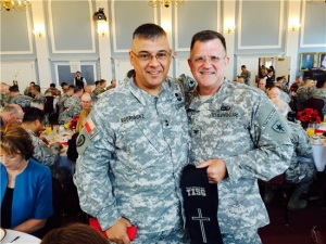 Photo of General Rodriguez and Colonel at event.