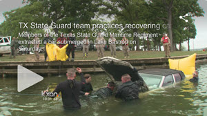 TX State Guard recover car