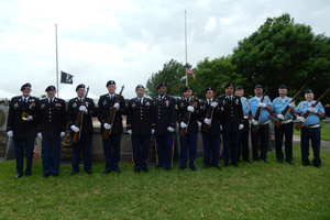 TXSG at VFW ceremony