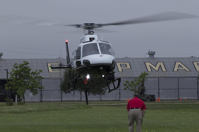 APD helicopter landing