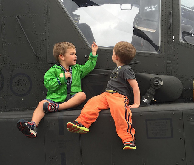 boys on helicopter