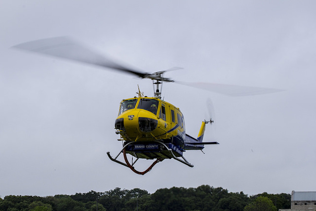 EMS helicopter landing