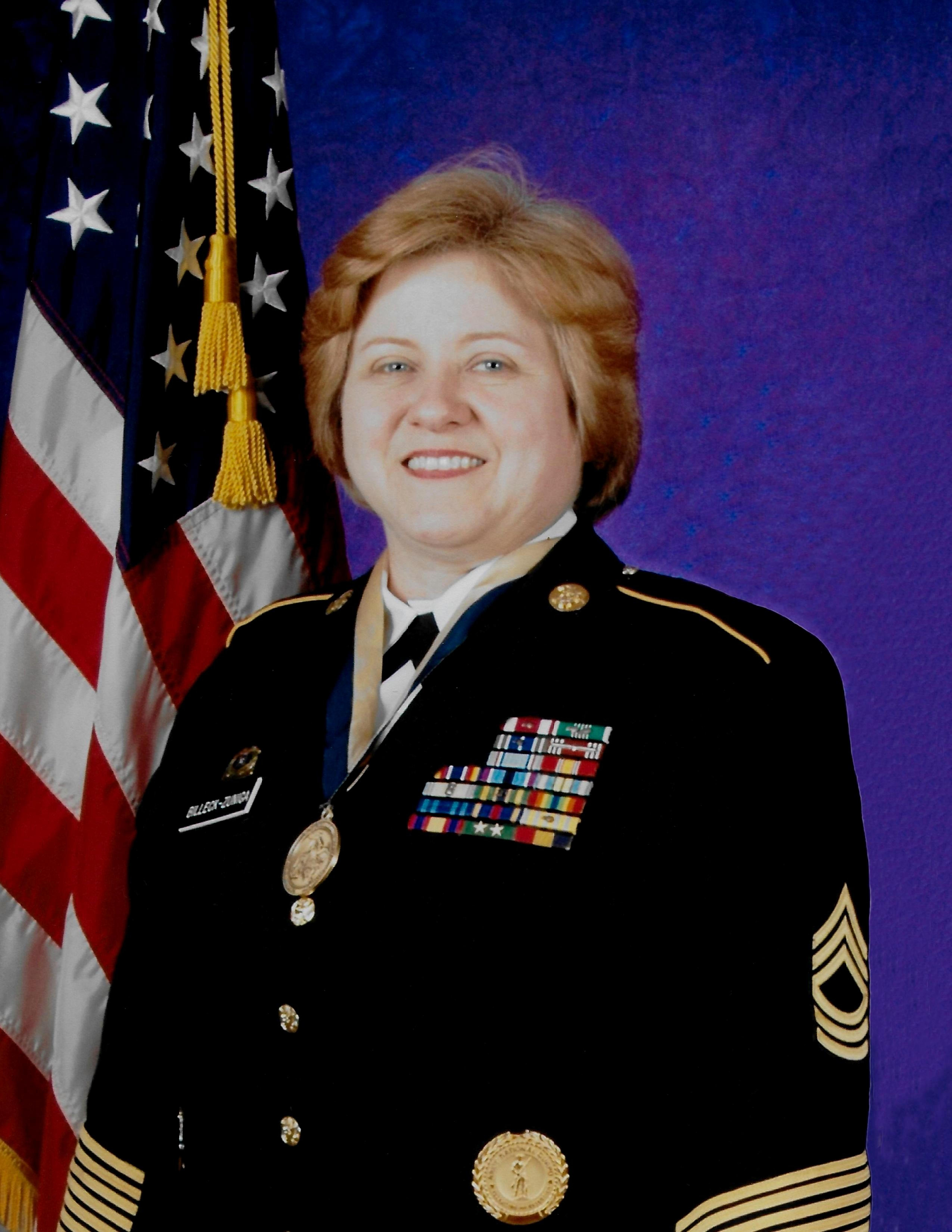 Retired Master Sgt. Theresa M. Billeck-Zuniga
