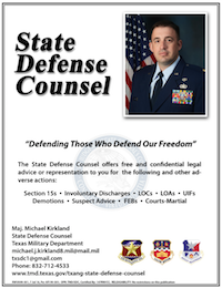 Texas State Defense Counsel Poster