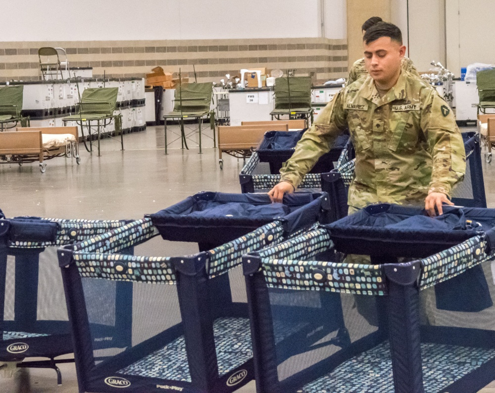 Texas Army National Guard Set up Field Hospital -