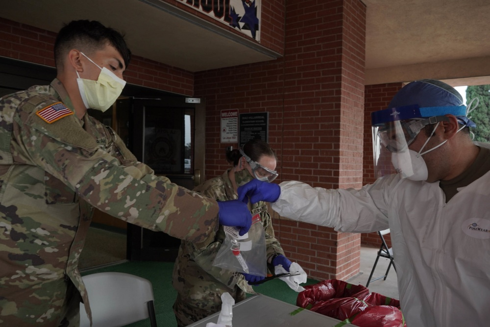 Texas National Guard supports Mobile Testing Site in Mission, Texas -