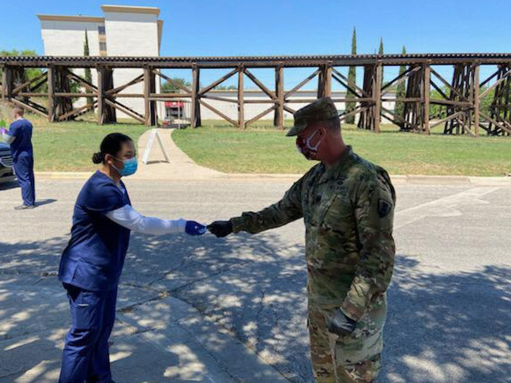 CSM Gilbert Stamps Recognizes Texas Army National Guard Soldiers for Excellence During the COVID-19 Response -