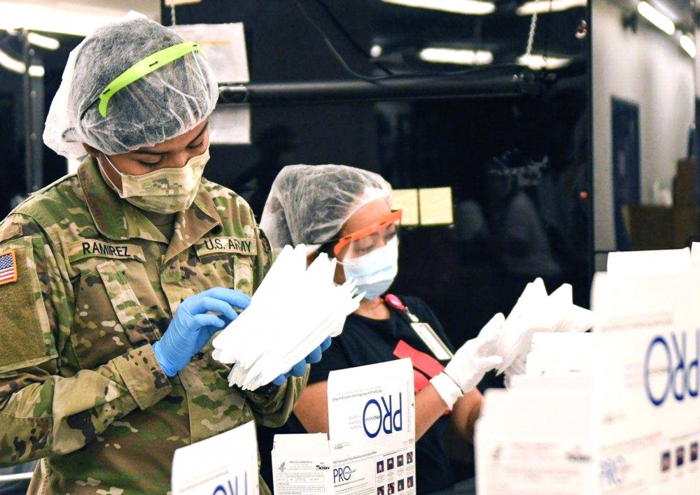 Texas Military Department Assists in N95 Mask Production -