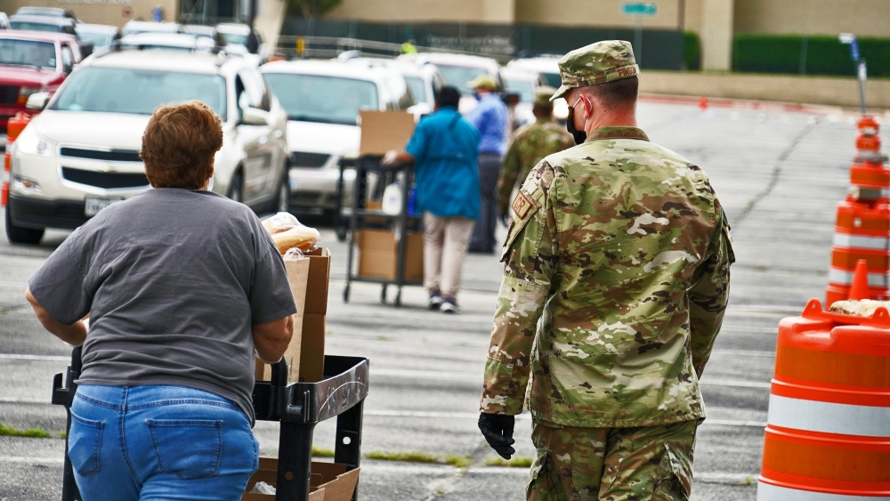 Texas Air National Guard Supports Tarrant Area Food Bank -
