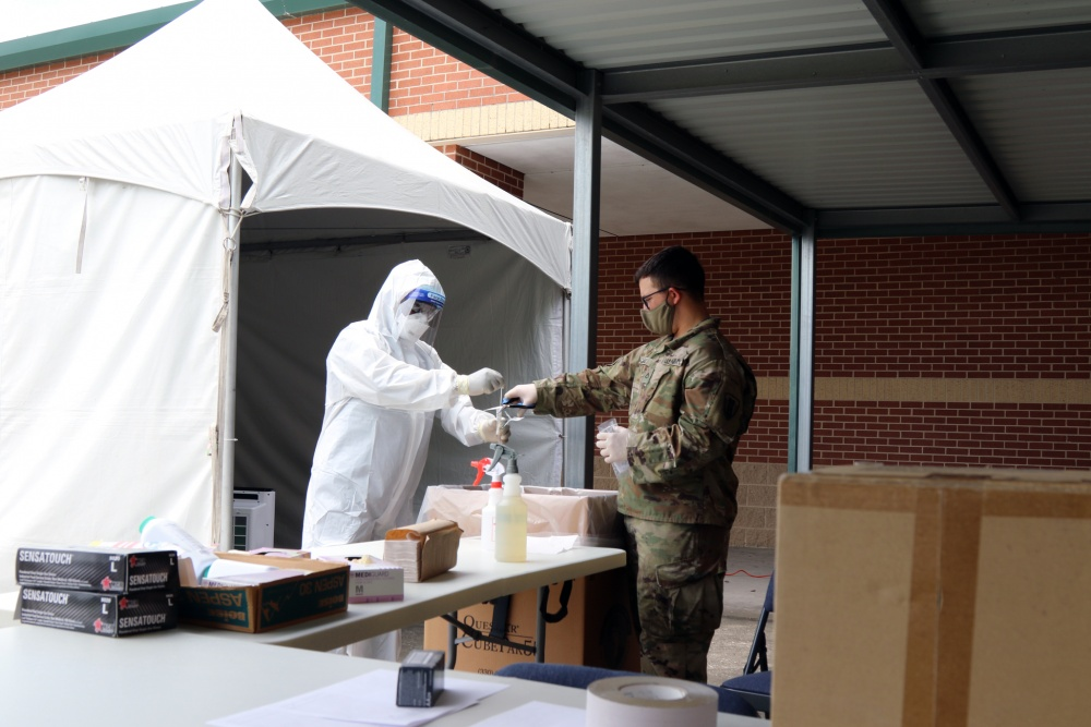 Texas Military Department Conducts COVID-19 Testing at Hilliard Elementary -