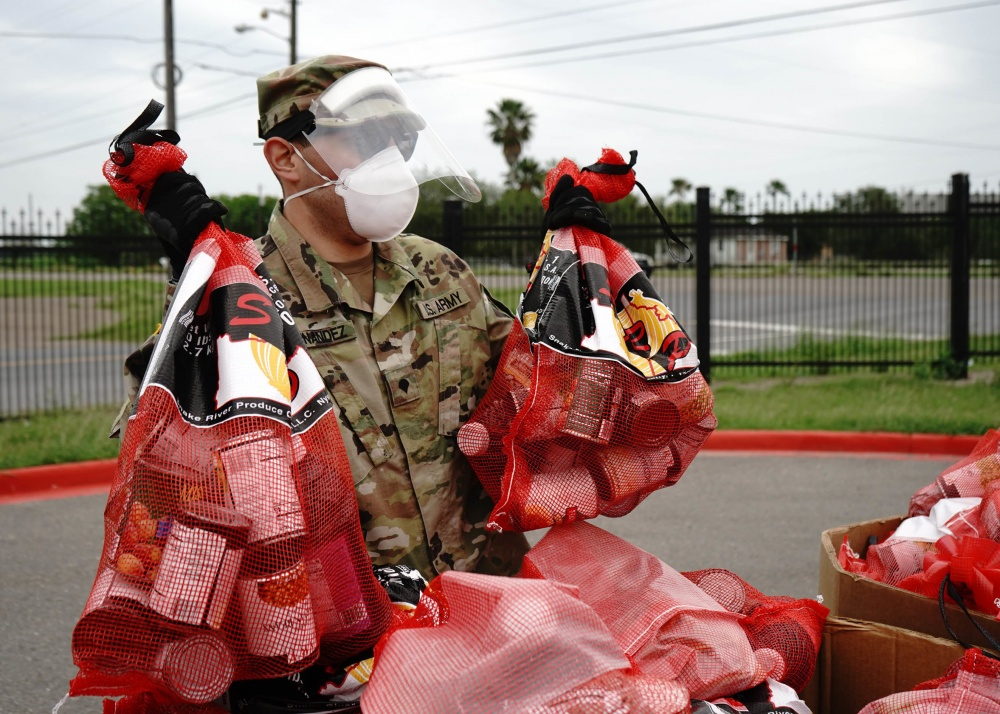 Texas National Guard Assists in Food Distribution -