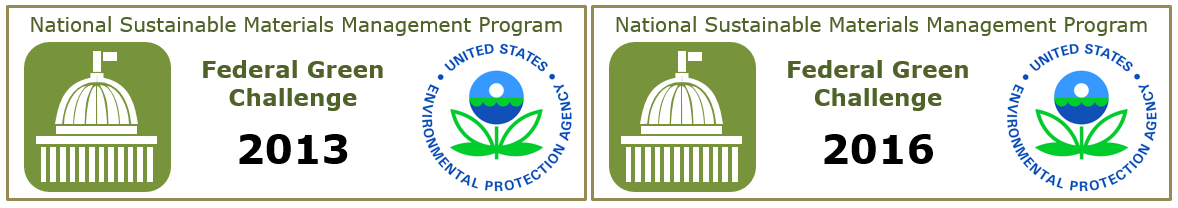 National Sustainable Materials Management Program Federal Green challenge awards for 2013 and for 2016
