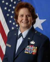 Brig. Gen. Dawn Ferrell  Deputy Adjutant General-Air for the Texas Military Department