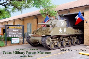 Texas Military Forces Museum M4A3 Sherman Tank